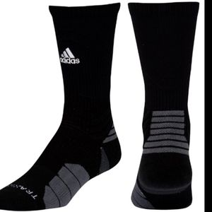 Adidas Black Menace Crew Socks Men's Size Large
